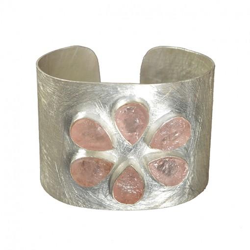 Tallulah Cuff Morganite Silver