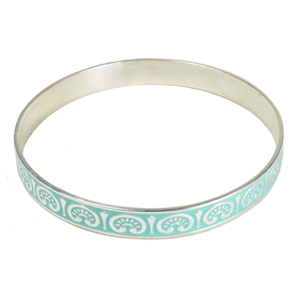 Eloise Enamel Bangle Turquoise