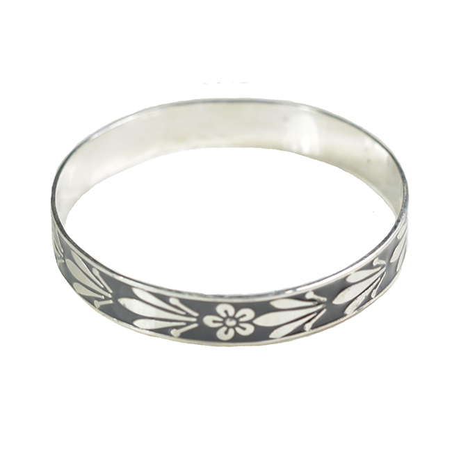 Joy Enamel Bangle Charcoal