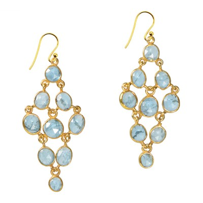 Tara Chandelier Earrings Aquamarine