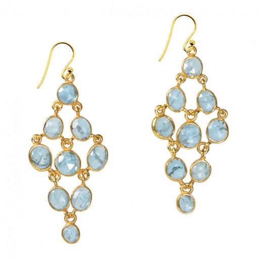 Tara Chandelier Earrings Aquamarine