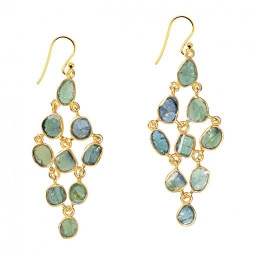Tara Chandelier Earrings Green Tourmaline