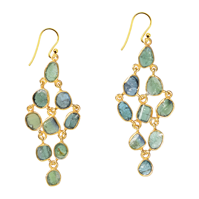 Tara Chandelier Earrings Green Tourmaline