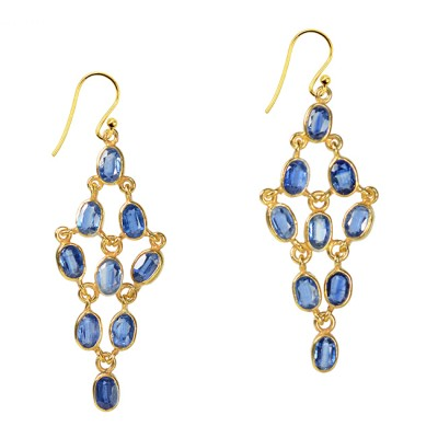 Tara Chandelier Earrings Kyanite