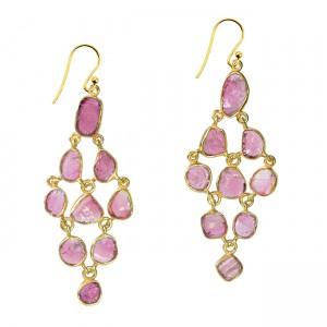 Tara Chandelier Earrings Pink Tourmaline