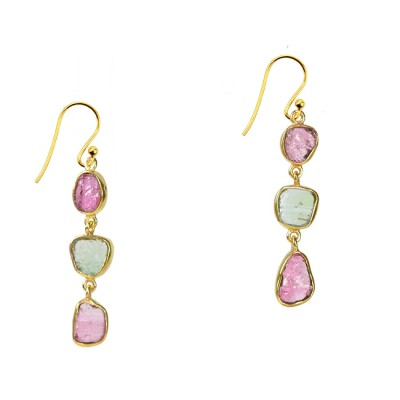 Tara Drop Earrings Tourmaline
