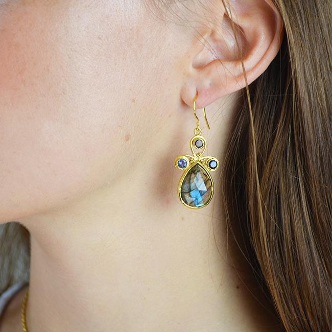 nikita earrings labradorite iolite