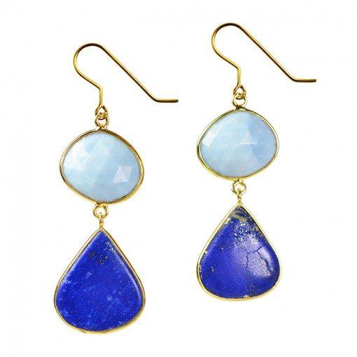 Talitha Earring Blue Opal
