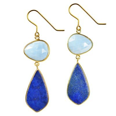 Talitha Kite Earrings Blue Opal Lapis