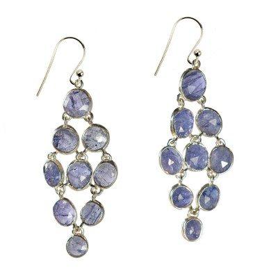 Tara Chandelier Earrings Tanzanite Silver