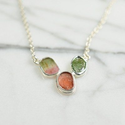 Tara Necklace Water Melon Silver