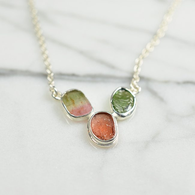 Tara Necklace Water Melon Silver