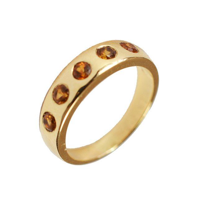 gold celebration ring mandarin garnet