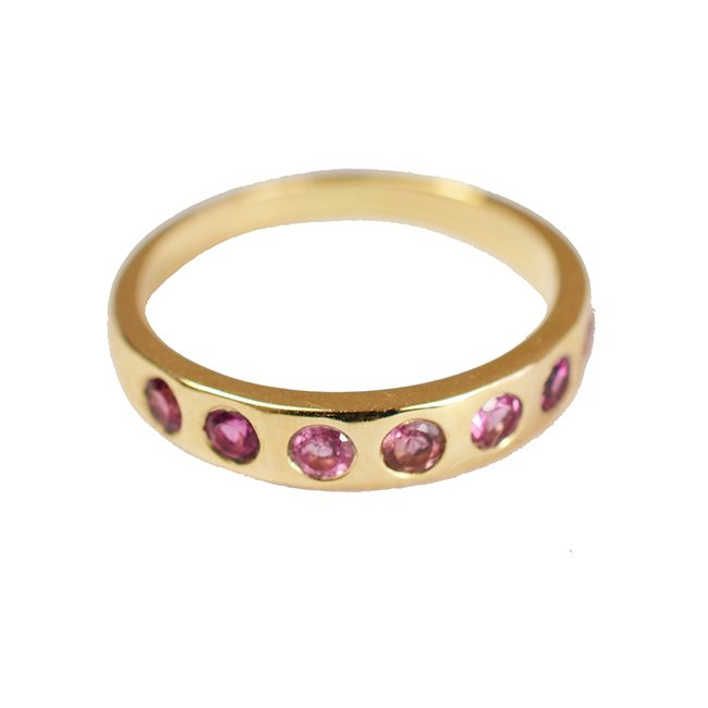 Gold Celebration Ring Pink Tourmaline
