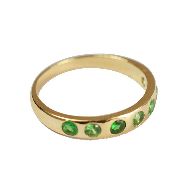 Gold Celebration Ring Tsavorite Garnet