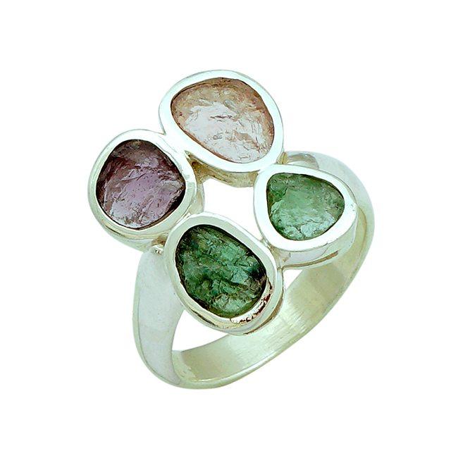 Pink Green Tourmaline Ring Tara