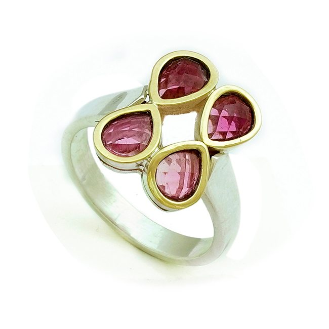 Pink Tourmaline Ring Small Tara