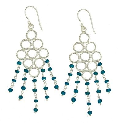 Sofia Earrings Apatite Silver