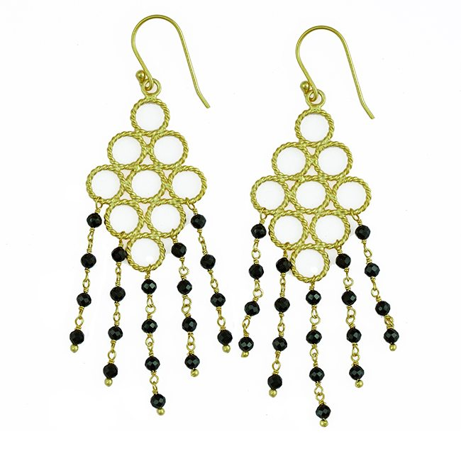 Sofia Earrings Black Spinel
