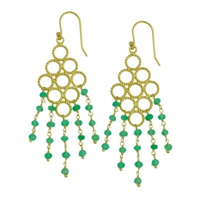 Sofia Earrings Chrysoprase