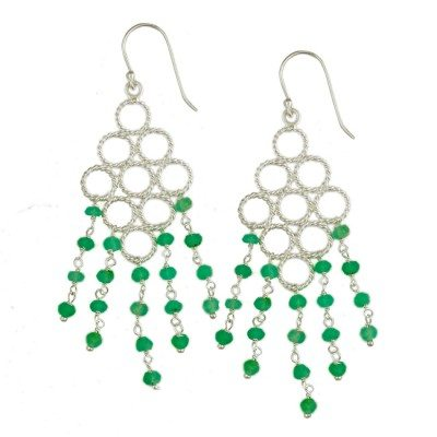 Sofia Earrings Chrysoprase Silver