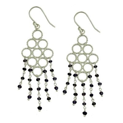 Sofia Earrings Iolite Silver