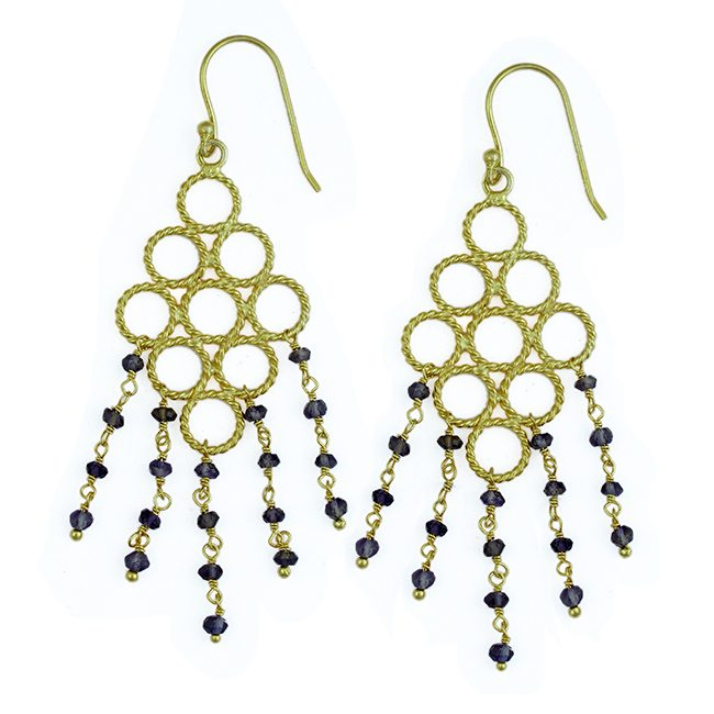 Sofia Earrings Iolite