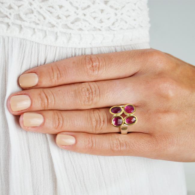 pink tourmaline ring small tara