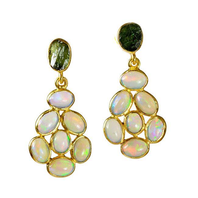 Opal Stud Green Tourmaline Tara