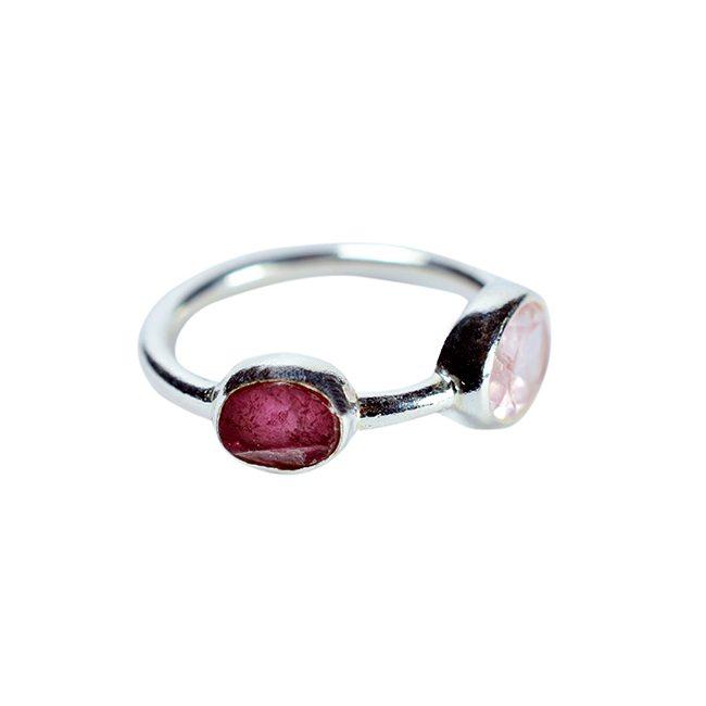 Pink Tourmaline Ring Tara Silver