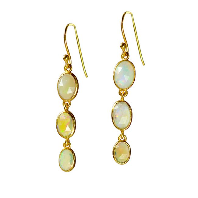 Tara Drop Earrings Opal
