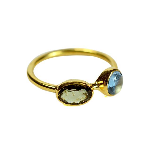 Tourmaline Kyanite Ring Tara