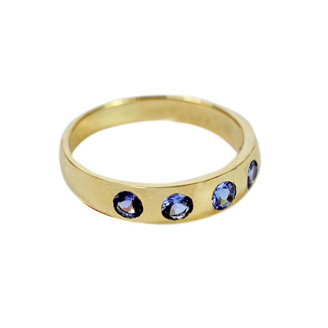 Gold Celebration Ring Tanzanite