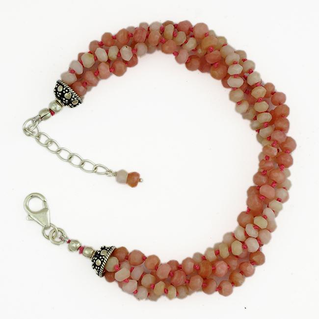 Pink Opal Bead Bracelet Sofia