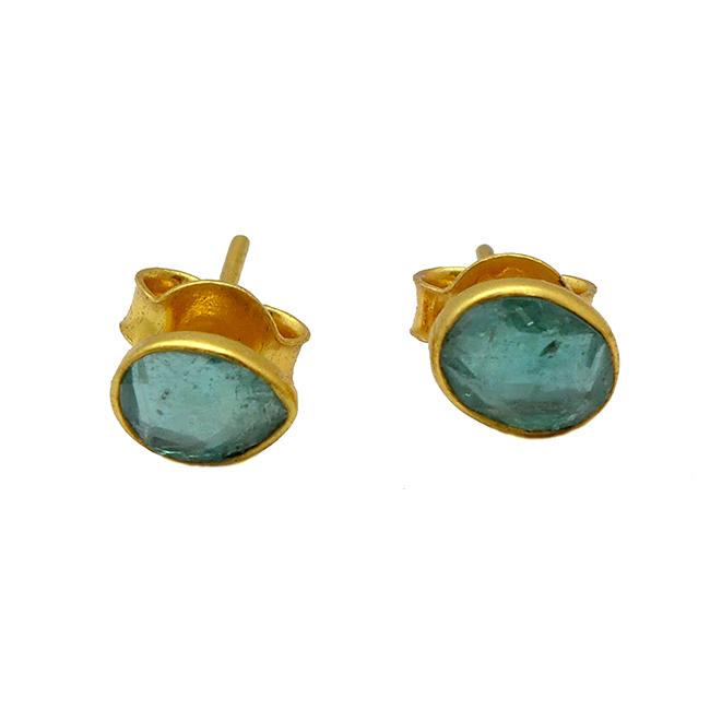 Single Stud Earrings Aquamarine Tara