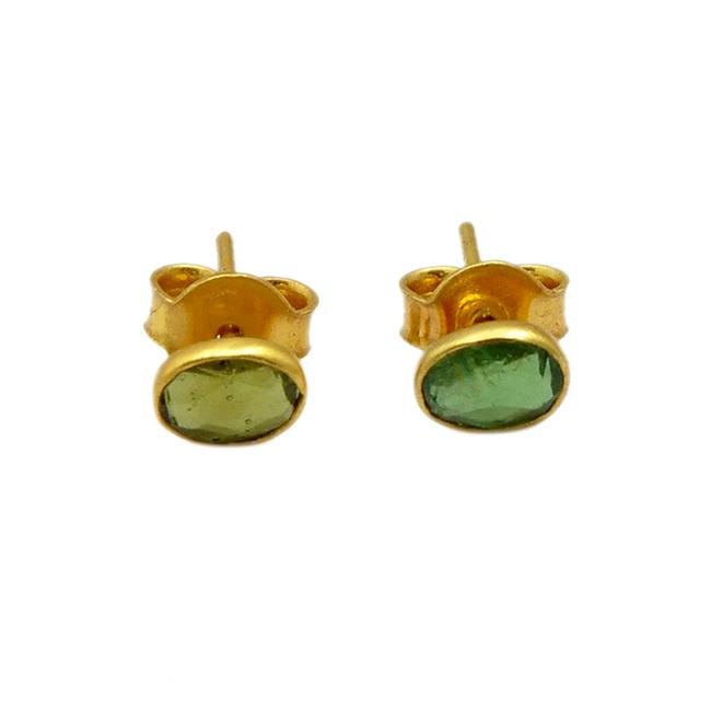 single stud earrings green tourmaline tara