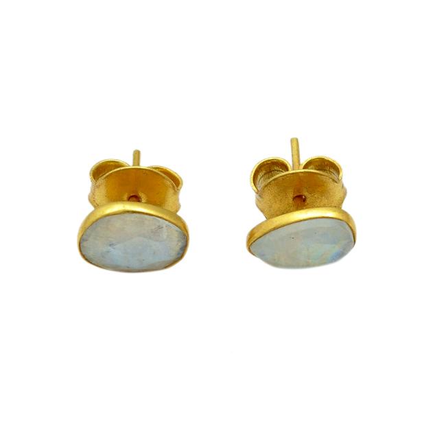Single Stud Earrings Moonstone Tara