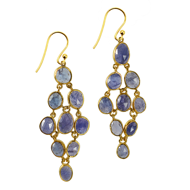 Tanzanite Chandelier Earrings Tara