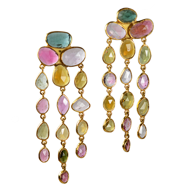 tourmaline waterfall earrings tara