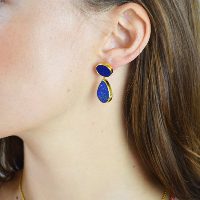 tallulah earrings lapis