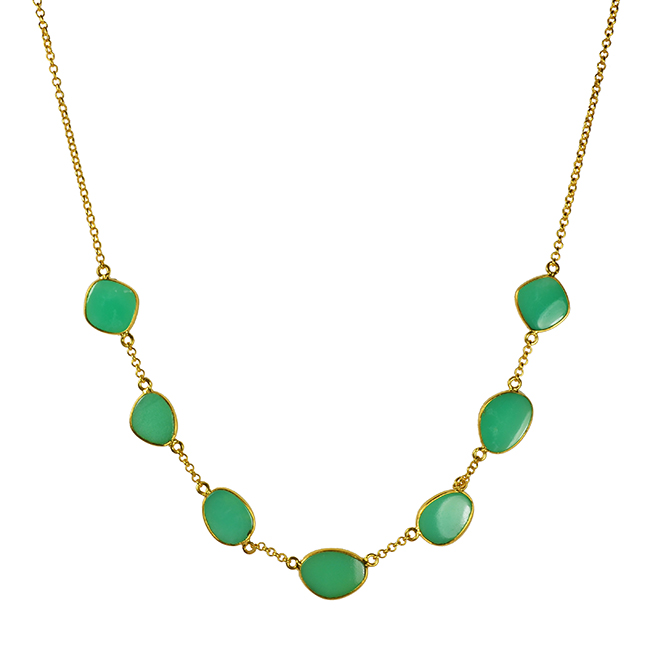 chrysoprase pebble necklace talitha