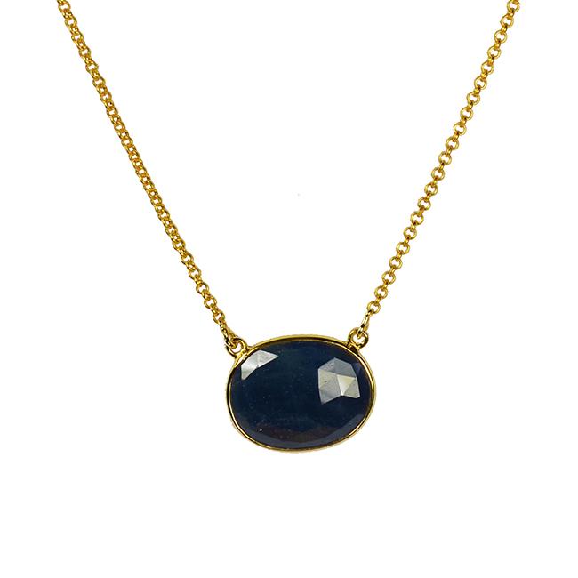 deep blue sapphire necklace talitha