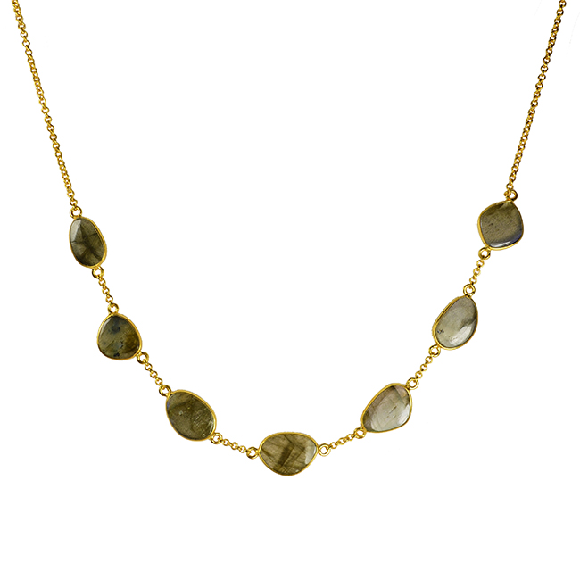 labradorite pebble necklace talitha