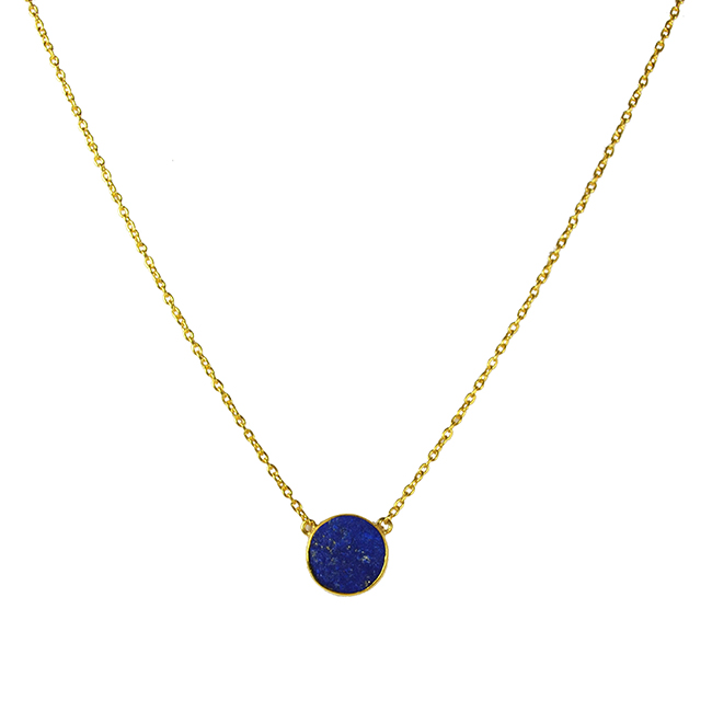 lapis lazuli single drop necklace tallulah