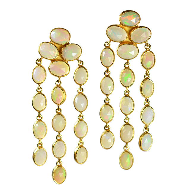 opal waterfall earrings tara