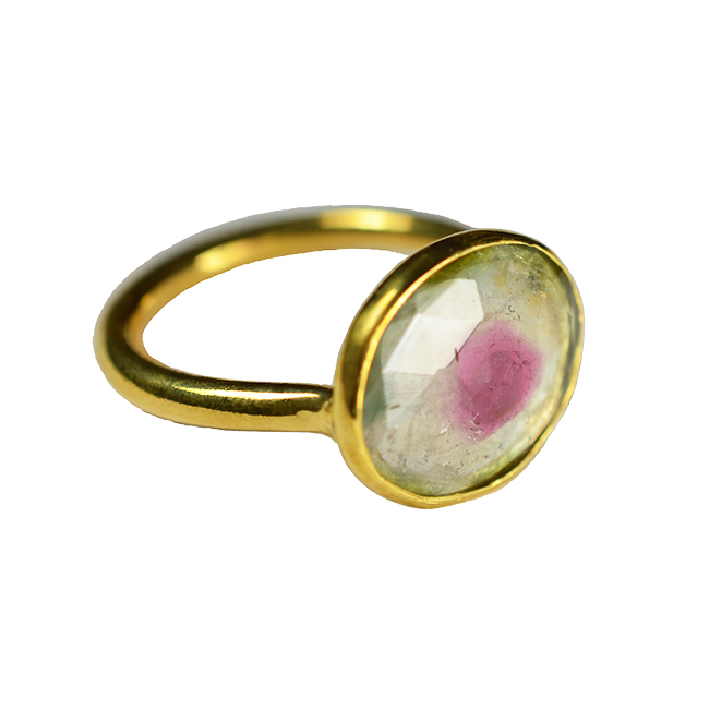 watermelon tourmaline ring tara