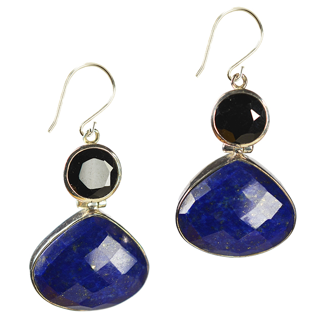 calypso earrings lapis lazuli-silver