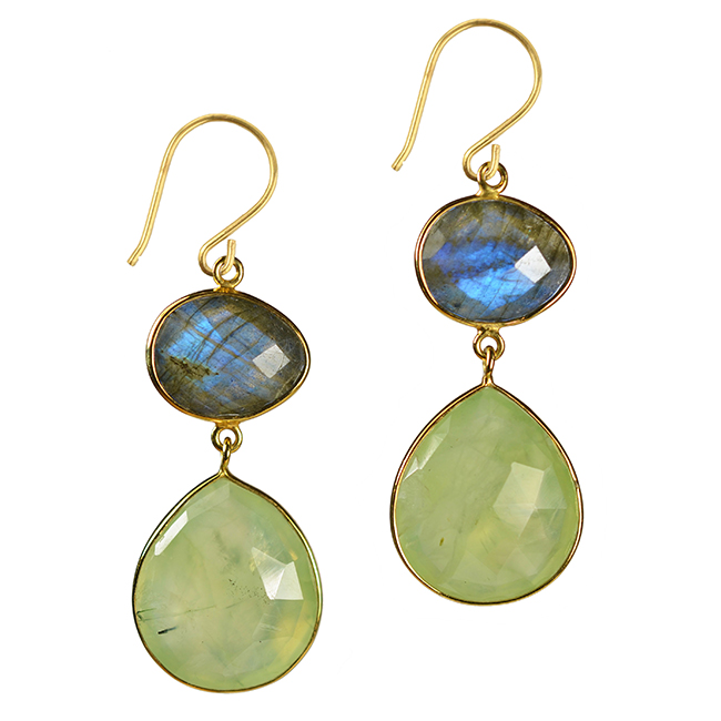 portia earrings labradorite prehnite