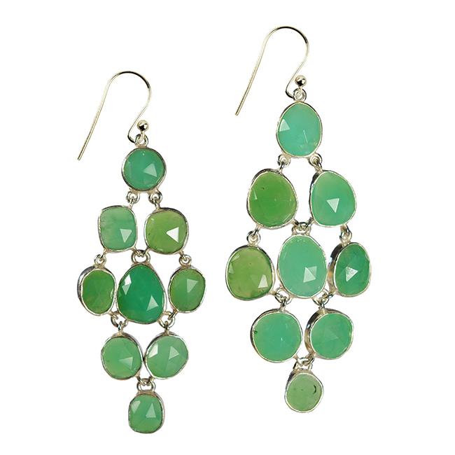 tara chandelier earrings chrysoprase silver