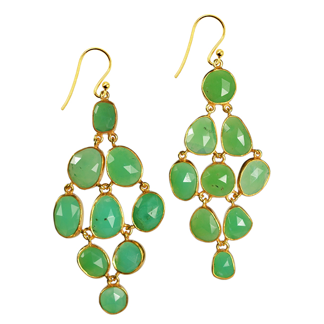 tara chandelier earrings chrysoprase